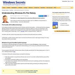 Understanding Windows 8's File History