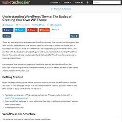 Understanding WordPress Theme: The Basics of Creating Your Own WP Theme – Make Tech Easier