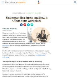 Understanding Stress and How It Affects the Workplace