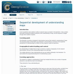 Sequential development of understanding maps