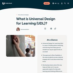 What Is Universal Design for Learning?