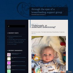 through the eyes of a breastfeeding support group