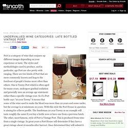 Undervalued Wine Categories: Late Bottled Vintage Port
