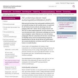 Att undervisa elever med autismspektrumtillstånd (AST) - www.regionuppsala.se