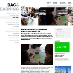 UNDERVISNINGSFORLØB OM BÆREDYGTIGE BYER - Dansk Arkitektur Center