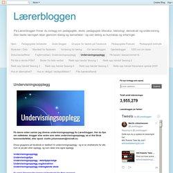 Lærerbloggen: Undervisningsopplegg