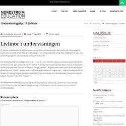 Undervisningstips 11 Livlinor – NORDSTRÖM EDUCATION