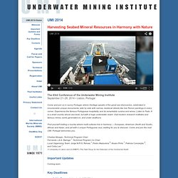 UMI 2012 | Underwater Mining Institute Conference