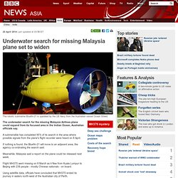 Underwater search for missing Malaysia plane set to widen