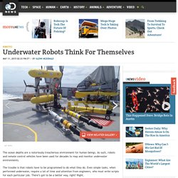Underwater Robots Think For Themselves