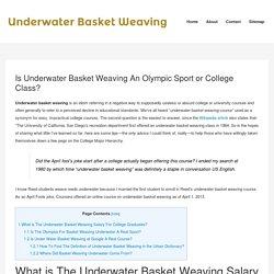 Underwater Basket Weaving Corporate Information