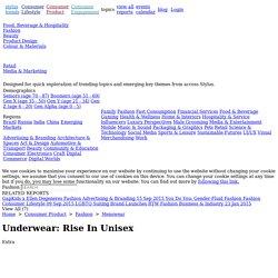 Underwear: Rise In Unisex