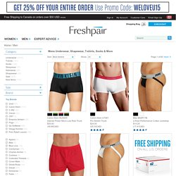 Mens Underwear, Mens T-Shirts, Sleepwear - Free Shipping