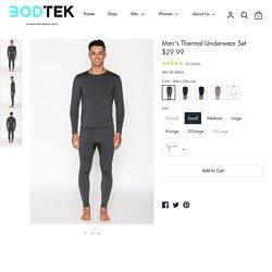 Mens Thermal Underwear Sets – BODTEK