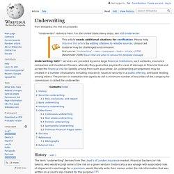 Underwriting - Wikipedia