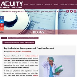 Top Undesirable Consequences of Physician Burnout