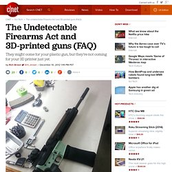 The Undetectable Firearms Act and 3D-printed guns (FAQ)