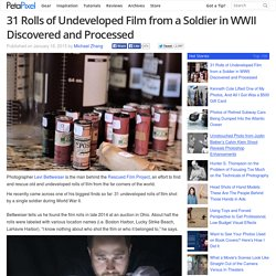 31 Rolls of Undeveloped Film from a Soldier in WWII Discovered and Processed
