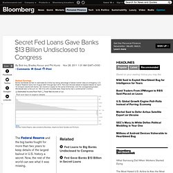 Secret Fed Loans Gave Banks Undisclosed $13B