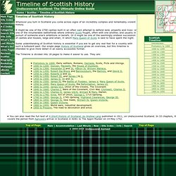 Undiscovered Scotland: Timeline of Scottish History