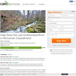 Help Save the Last Undisturbed River in Romanian Carpathians!