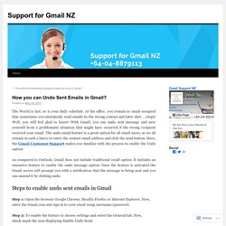 How you can Undo Sent Emails in Gmail?