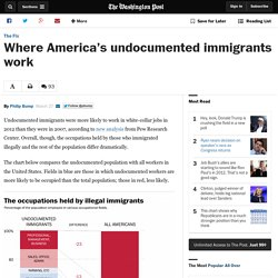 Where America's undocumented immigrants work