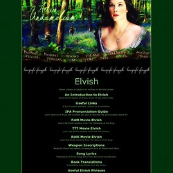 Dedicated to J.R.R. Tolkien's Lord of the Rings :: Elvish