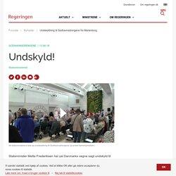 Undskyldning til Godhavnsdrengene fra Marienborg - Regeringen.dk