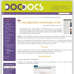 Une application Androïd pour le CDI