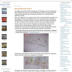 Une aquarelle pas à pas 1 - Blog à l'eau