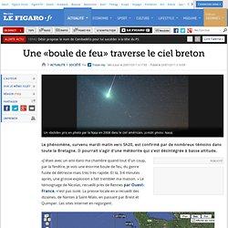 France : Une «boule de feu» traverse le ciel breton