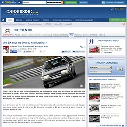 Une BX sous les 9mn au Nürburgring ?!
