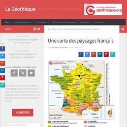 Une carte des paysages français