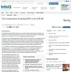 Une comparaison de Spring MVC et de JAX-RS