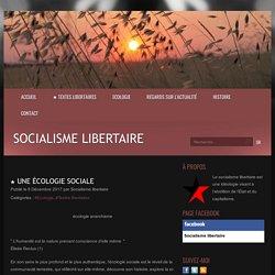★ Une écologie sociale