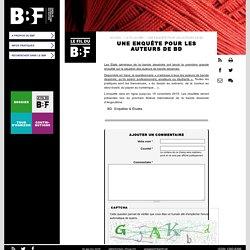 Une enquête pour les auteurs de BD: Les Etats généraux de la bande dessinée ont lancé la première grande ... #BBF