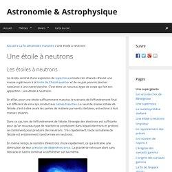 Une étoile à neutrons