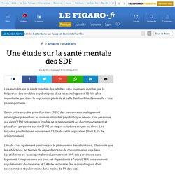 Une étude sur la santé mentale des SDF
