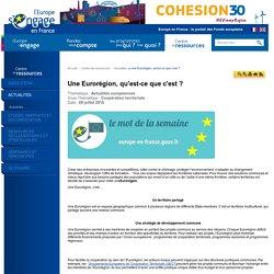 Une Eurorégion, qu'est-ce que c'est ?