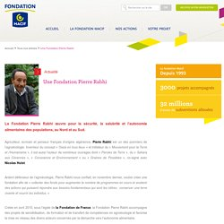 Une Fondation Pierre Rabhi