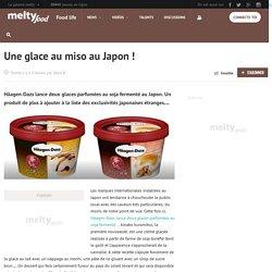Une glace au miso au Japon