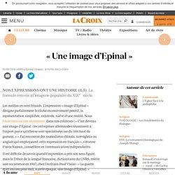 « Une image d'Epinal » - La Croix