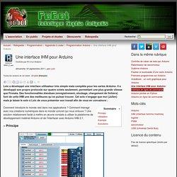 Une interface IHM pour Arduino