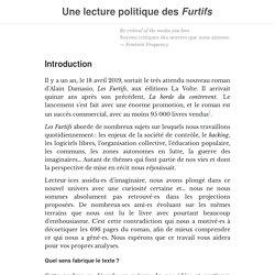 Une lecture politique des Furtifs