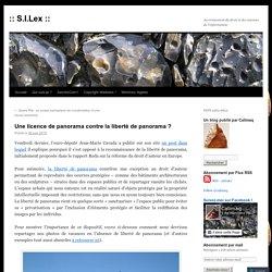 Liberté de panorama et Wikipédia (SILex)