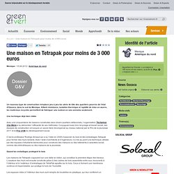 Une maison en Tetrapak pour moins de 3 000 euros