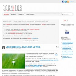 Une obsession. Simplifier le Web.
