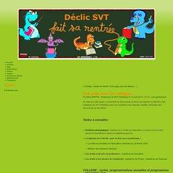 Une page pour les collègues ... - Déclic SVT