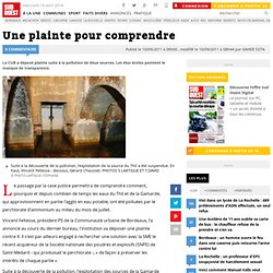 SUD OUEST 10/09/11 Bordeaux - Une plainte pour comprendre